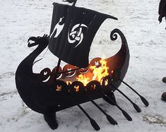 Modern geometric steel fire pit. Free Shipping by SpireMetalworks