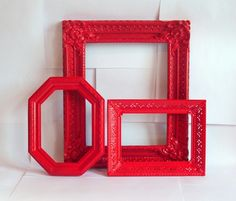 RED FRAME @Pamela Petkova Cabbagio OMW I love these. perfect color for my chair too!