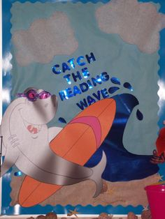 """Catch the Reading Wave"" bulletin board"