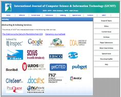 International Journal of Computer Science & Information Technology (IJCSIT) ISSN: 0975-3826(online); 0975-4660 (Print) http://airccse.org/journal/ijcsit.html http://airccse.org/journal/jcsit_index.html