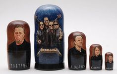 Matryoshka russian nesting doll Metallica, 6inches