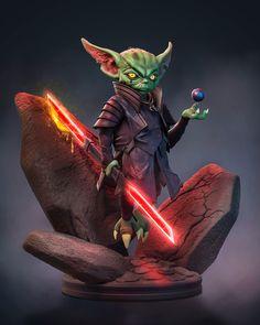 Diorama, Zbrush Models, Star Wars Sith, Star Wars Design, Alien Concept Art, Star Wars Games, Star War 3, Star Wars Characters, Fan Art