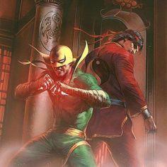 Iron Fist and Shang Chi - Deadly Hands of Kung Fu Omnibus Vol. Marvel Comics Art, Marvel Comic Books, Comic Book Characters, Marvel Heroes, Marvel Characters, Comic Character, Comic Books Art, Comic Art, Book Art