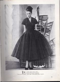 Scan from Dior in Vogue 1947 The New Look