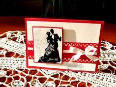Invitatie alb-rosie (handmade invitation )