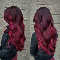 Top Dark Red Hair Burgundy Magenta Ideas#burgundy #dark #hair #ideas #magenta #red #top Dark Red Hair Burgundy, Burgundy Balayage, Maroon Hair, Dark Hair, Red Hair Color, Cool Hair Color, Purple Hair, Edgy Hair Colors, Magenta Hair Colors