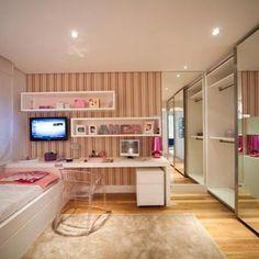 Moai Alto de Pinheiros SP 4 dormitórios 211 e 375 m² de área privativa House Rooms, Bedroom Design, House Design, Bedroom Decor, Girl Room, Interior Design, Home Decor, House Interior, Home Deco