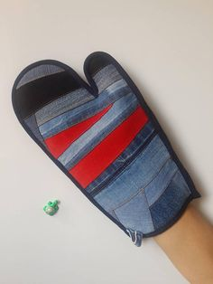 Denim Oven Mitts Patchwork Oven Mitts Kitchen Mitts