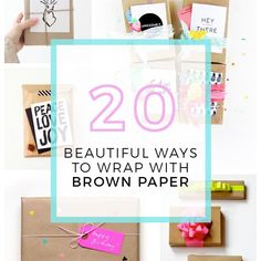 Brown paper packages tied up with string! You know how the song goes. It is one of my favourite things. Today I've gathered 20 beautiful ways to wrap with brown paper. All of are beautiful, different and would be well received by any loved one in your life, I'm sure. All you need is some...ReadMore