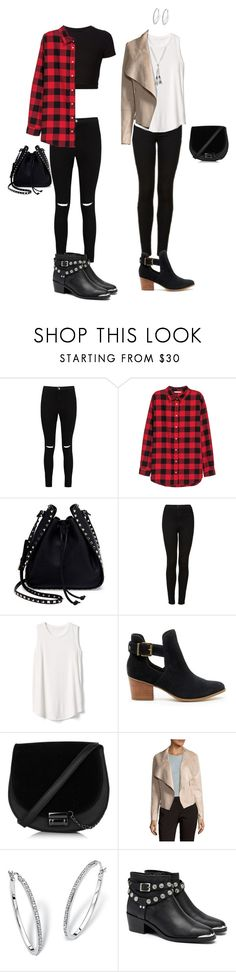 """""""usual look"""" by alina-filika ❤ liked on Polyvore featuring Getting Back To Square One, Boohoo, H&M, Valentino, Topshop, Gap, Sole Society, Bagatelle, Palm Beach Jewelry and Senso"""