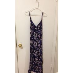 Angl maxi dress Angl maxi dress with a purple watercolor design. Empire waist, adjustable straps and singed back for a perfect fit. 35 inch length. ANGL Dresses Maxi