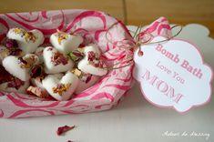 DIY bain effervescent cadeau fete des meres