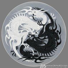 °Yin&Yang Dragons by DenBeauvais