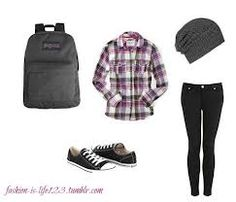 Somedays, I'm a tomboy. I ADORE plaid shirts and Coverse shoes. I have a pair of blue plaid converses (That combines my two favorite materials). This outfit is PERFECTLY me!