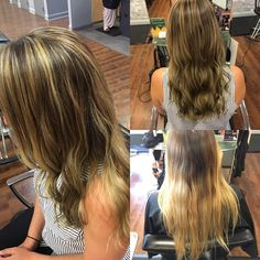 Kelly's before and after by Mallory. She wanted to blend her ombré to perfection!  Make your reservation today for your on-point color at (703) 327-9408 or visit http://eclipsashburn.com