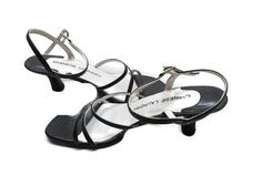 bcd698a49bf89 Chinese Laundry Sandals Black Size 7.5 M Strappy 2.75 Inch Heel Leather   ChineseLaundry  Strappy