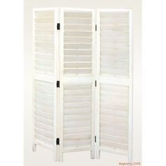 Low Price Wayborn Shutter Style 3 Panel Room Divider in White