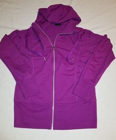 21b8db30e08ba5 Champion Elite Women s Medium Full Zip Up Fitness Lightweight Jacket Purple  B03