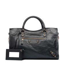 dream bag - balenciaga giant 12 rose gold city black
