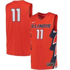 b146d04b438  11 Illinois Fighting Illini Nike Replica Basketball Jersey - Orange