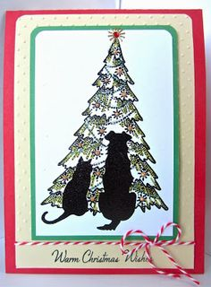 Sunny Summer Crafts: Christmas Card Club #23: Oh Christmas Tree and another