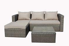 Superb Brema 052261 Alu Geflecht Loungeset 3 Teilig, 1 Sofa 2 Sitzer Und Idea