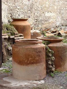 Storage vessels in Pompeii