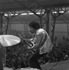 Jimi in Rotterdam 10 Nov 1967 by Rob Bosboom