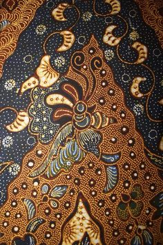 Hand-drawn Batik Tulungagung. Motive name Lengko Lung Burung. Private collection of Arief Laksono.