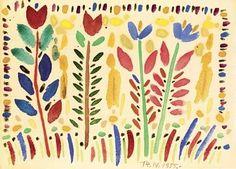 Fleurs - Victor Brauner, 1955
