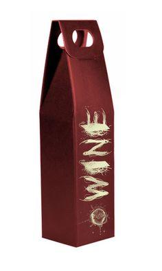 Caja de vino para una botella con diseño realizado por La Mona Azul para Pak&Bag