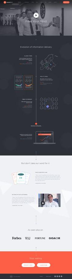Unique Web Design, ThoughtSpot #WebDesign #Design