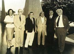 Marianne Peretti, Athos Bulcão, Alfredo Ceschiatti, Oscar Niemeyer, José Sarney e Burle Max
