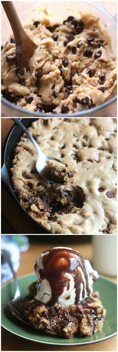 Skillet Chocolate Chip Cookie!! Wow, does that look good. Want to try this!