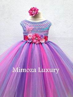 My Little Pony Birthday Tutu Dress Flower girl by MimozaLuxury
