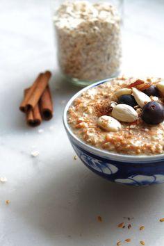 Porridge d'avoine façon carrot-cake, sans cuisson