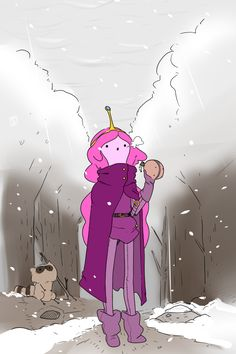 Adventure Time : time for a winter adventure. Adventure Time Poster, Adventure Time Marceline, Adventure Time Anime, Adventure Time Princesses, Adventure Time Characters, Favorite Cartoon Character, Character Art, Gumball, Marceline And Princess Bubblegum