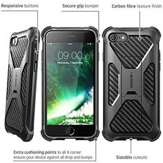 iPhone 7 Case Heavy Duty Dual Layer Protective Cover Transformer Kickstand Black #iPhone7CaseHeavyDuty
