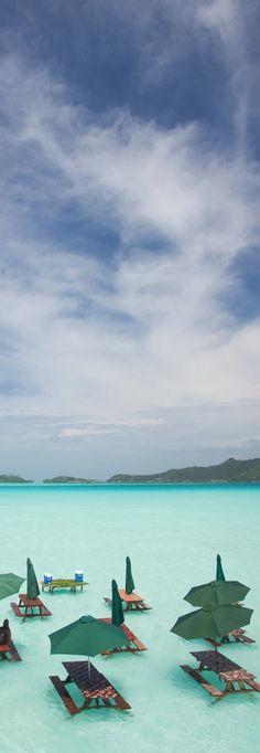 A picnic at the St. Regis, Bora Bora