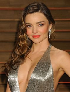 Miranda Kerr shimmers in a silver floor-length gown at the Vanity Fair Oscars party! Description from pinterest.com. I searched for this on bing.com/images