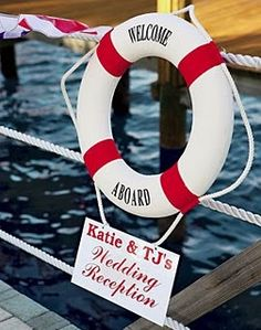 Welcome- I'd love to do my wedding reception on a boat. Welcome- I'd love to do my wedding reception on a boat. Pre Wedding Party, Boat Wedding, Yacht Wedding, Wedding Tags, Wedding Reception, Wedding Ideas, Waterfront Wedding, Seaside Wedding, Wedding Signage