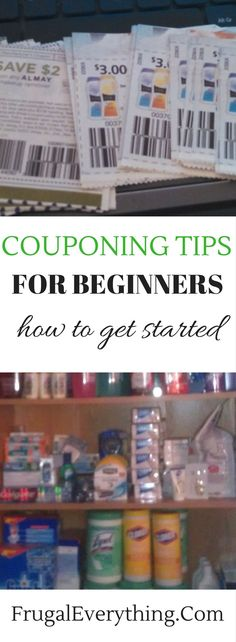 Couponing Tips for Beginners - How to Get Started Couponing - - - Couponing can be a GREAT way to save money. With these couponing tips for beginners you can learn how to get started couponing easily. How To Start Couponing, Couponing For Beginners, Couponing 101, Extreme Couponing Tips, Save Money On Groceries, Ways To Save Money, Money Tips, Money Saving Tips, Earn Money