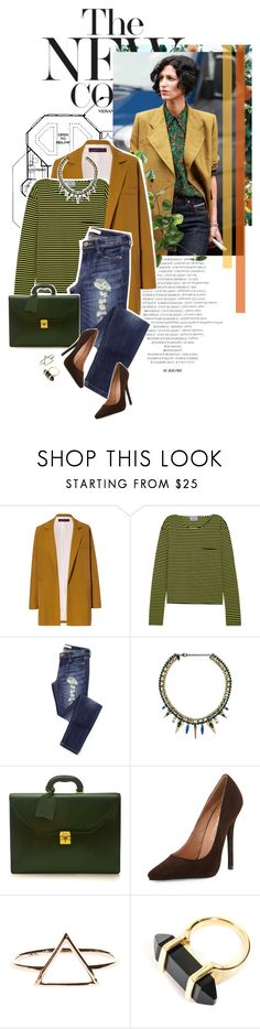 """""""Out of my head"""" by scelestum ❤ liked on Polyvore featuring Zara, Prada, Iosselliani, Mark Cross, Jeffrey Campbell and Yves Saint Laurent"""