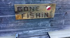 GONE FISHING SIGN Rustic Wood Sign Gone by TheRusticWoodshed