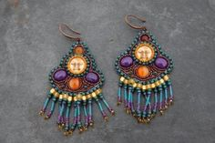 beaded earrings by Jersica