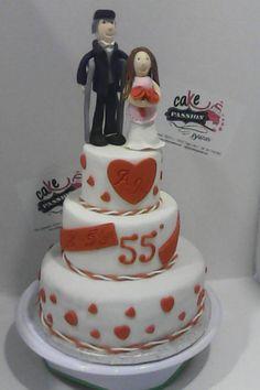 55 Years Together Cake - Torta anniversario 55 anni di nozze