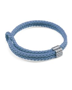 Bottega Veneta intrecciato woven lambskin leather bracelet. Double cords with…