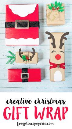 Creative Christmas gift wrap ideas with cricut