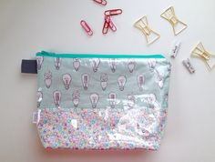 Light Bulbs Flat Bottom Pouch small by handmadephilosophy on Etsy