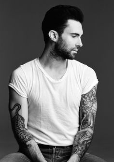 Adam Levine, lead singer of Maroon 5 and popular judge on The Voice, now has his own clothing line. It is a fairly germane clothing line – the type of clothing you expect to see on young men… Maroon 5, Teen Idle, Adam Levine Tattoos, Look At You, How To Look Better, Celebrity Gallery, Celebrity Crush, Celebrity Bodies, Celebrity List